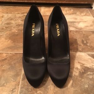 All Black Vintage **Authentic** Prada Heels